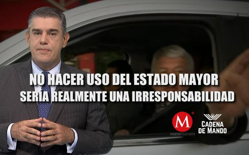 NO HACER USO DEL ESTADO MAYOR SERÍA UNA GRAN IRRESPONSABILIDAD - JUAN IBARROLA MILENIO