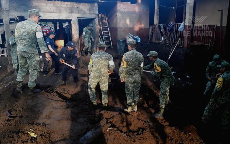 Ejército Mexicano e integrantes del Cuerpo de Caballería de Defensas Rurales continúan aplicando Plan DN-III-E - CADENA DE MANDO